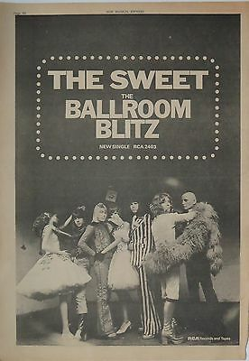 "The Sweet ""The Ballroom Blitz"" 1973 full-page ad UK"