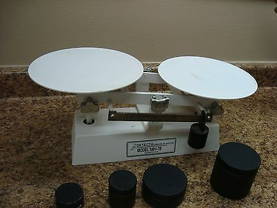 Detecto 1001TB Baked Enamel 16 Lb. Baker Dough Scale with Scoop