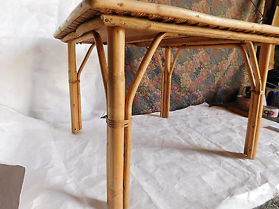 vintage mid century rattan wicker bamboo style end coffee side table frankl era