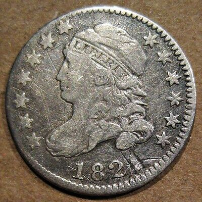 U.s. 1821 Capped Bust 89.2% Silver Dime Coin (Km#42)