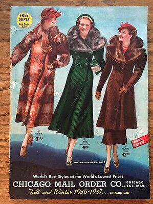 1937-38 Chicago Mail Order Co. Fall/Winter vintage fashion catalog mint