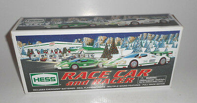 VINTAGE 2009 Hess TOY Race Car and Racer MINT IN ORIGINAL BOX NEVER USED