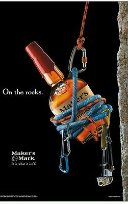 Makers mark Rock climbing Colorado poster 18 by 27 new