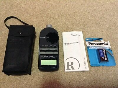 Radio Shack Digital Sound Level Meter, 33-2055, Case Battery Etc...