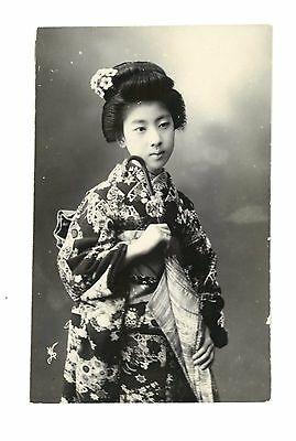 RPPC Pretty Geisha Girl with Umbrella from Japan c 1908