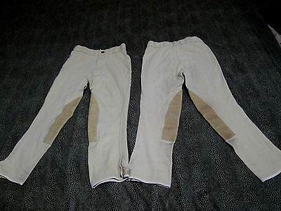 """Comfort Riders Rough 1 Tan Riding Breeches Youth Size 12 20 1/2"""" Inseam 2 Pair"""