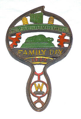 Vintage Westinghouse East Pittsburgh Division Family Day 1958 Cast Iron Trivet