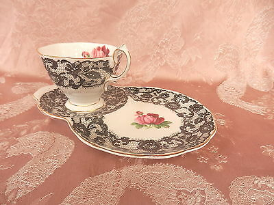 ROYAL ALBERT   SENORITA   Tennis Set    SPANISH LACE AND ROSES          VINTAGE