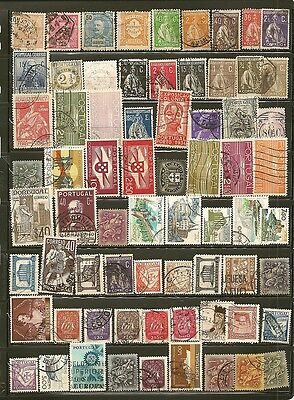 Portugal 68 Old Used Stamps
