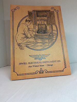 Vintage ? Jewell Electrical Instrument Co. Standing Store Display Advertising