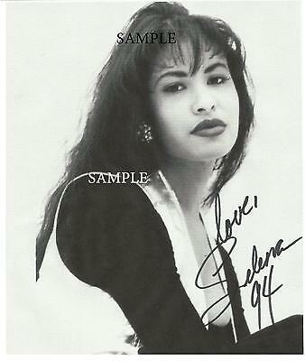 Selena Quintanilla #1 Reprint Autographed Picture Signed Photo 8X10 Rp Gift