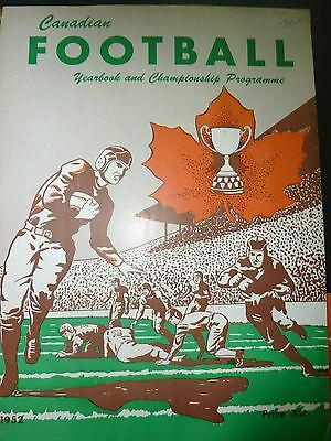 1952 Canadian Football Yearbook And Championship Programme