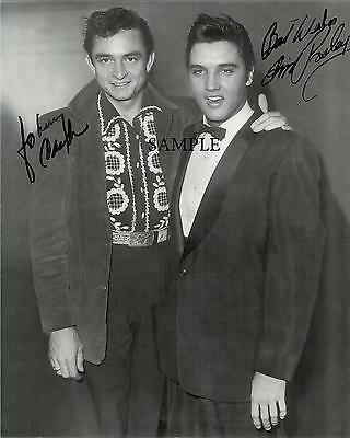 Elvis Presley Johnny Cash Reprint Picture Autographed Signed Photo 8X10 Rp Gift