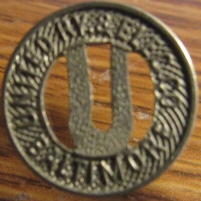Very Old United Ry. & Elec. Co. Baltimore, MD Transit Trolley Token - Maryland