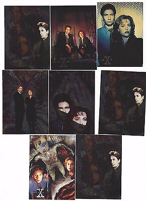 X-Files Season 1 & 2 Sets w/7-Inserts, 85-Silver Stamped Foils, & 3-Promo Cards