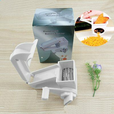 Stainless Steel Cheese Grater Manual Rotating Classic ABS Chocolate Grater XRAU