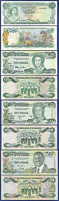 Bahamas 4 Different $1 Notes By Type - No Reserve
