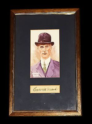 Mlb Connie Mack Hand Signed Autographed Mat Cut Framed With Photo And Coa Rare