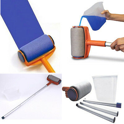 Professional Paint Roller Kit Brush Tray Painting Runner Pintar Tool Facil Decor