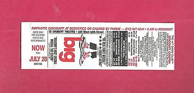 BIG original 1996 DISCOUNT TICKET for the musical BIG on Brodway