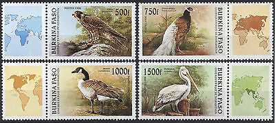 Burkina Faso 1996 500fr-1500fr Birds Scott 1087-1090 UMM/MNH Cat $20
