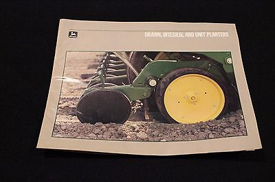 Vintage 1980's Era John Deere Drawn, Integral & Unit Planters Brochure