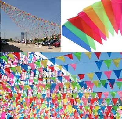 2pcs 10M Rainbow Birthday Party Pennant Flag Banner Bunting Hanging Decoration
