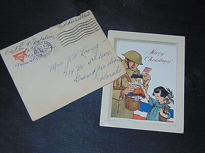 Dec. 5, 1918 Wwi Christmas Card / Letter From Bordeaux France From U.s. Soldier
