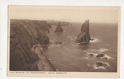 Stacks Of Duncansby John O Groats Vintage Postcard  202a