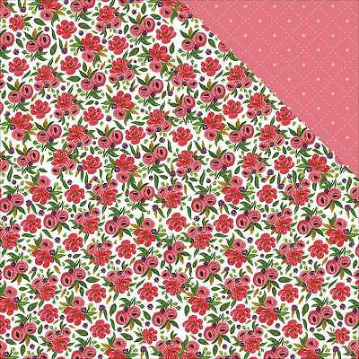 """Flora No. 1 Double-Sided Cardstock 12""""X12"""" Rose Garden Wreath 653341312099"""