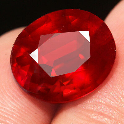 9.8CT Natural Mozambique Pigeon Blood Red Ruby Faceted Cut QHBd152