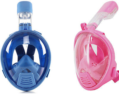 LUOOV Kids Full Face Snorkel Diving Mask Scuba Anti-fog For Gopro Swim 180° View