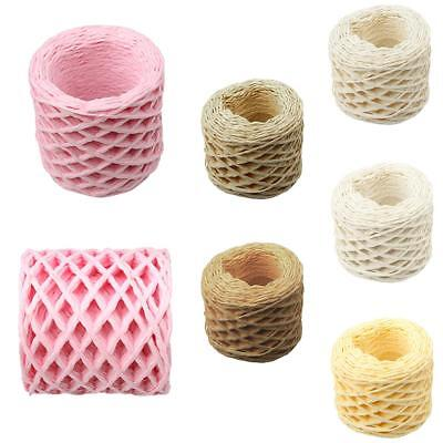 30 Meters Paper Raffia Ribbons Cords for Flower Gifts Crafts Decor Scrapbook