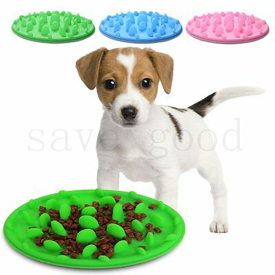 Pet Dog Cat Healthy Anti-choke Bowl Food Water Interactive Maze Slow Feeder