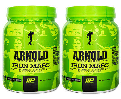 2 x MusclePharm Arnold Iron Mass 680g - Chocolate Malt