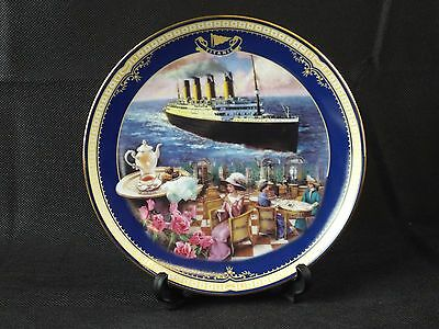 Decorative Plate by James Griffin BRADEX Queen of the Ocean 'The Cafe Parisien'