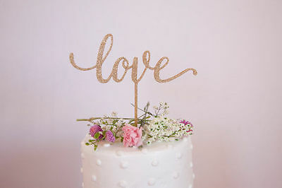 Our stunning glitter designs LOVE Wedding cake Toppers