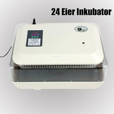 New Digital 24 Chicken Duck Auto Poultry Hatcher Egg Incubator + Free LED Torch
