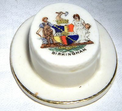 Swan   Crested China  Boater Birmingham  (B40)