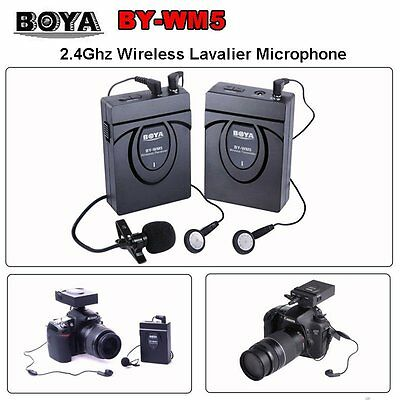 BOYA BY-WM5 Wireless Radio Lavalier Microphone for Camera Audio Recorder LF479 U