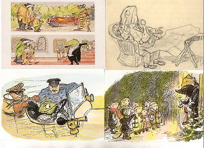 5 postcards of WIND IN THE WILLOWS ANIMALS