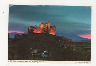 The Rock Of Cashel By Night Co Tipperaray Ireland Postcard 879a