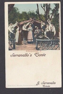 Italy - Advertising Serravallo's Tonic Trieste - Country Dancing