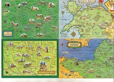 55 postcards of MAPS some duplicated