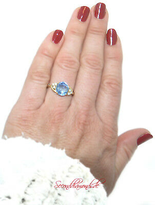 Côte d'Azur Brillantring mit 3,68 ct Safir & Brillanten in 750 Gold 18 kt