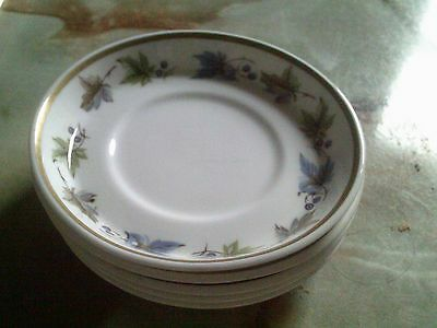 Five Vintage/retro Sutherland Pottery Bone China Bowl Shaped Saucers