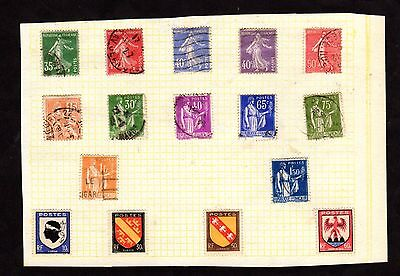 Stamps ~ FRANCE French FRANCAIS ~ On Album Page UNSORTED / Unchecked #3