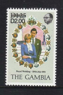 Gambia 1982 Surch D2 On D1.25 Not Listed In Sg