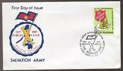 1987 SALVATION ARMY Jubilee Year Philipine Territory FDC