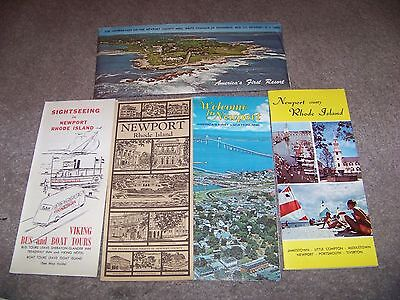 1973 Newport County Rhode Island Visitors Guide Jamestown Tiverton Middletown